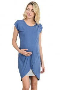 hello miz color block nursing top